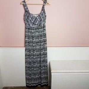 max studio geo print maxi faux wrap dress